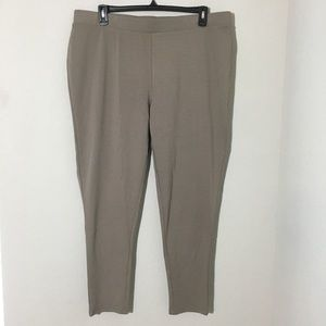 NWT Philosophy Taupe Pull On Leggings Sz 3X